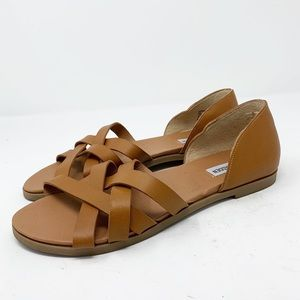 Steve Madden Sandals 9 Camel Kiera Slip-on